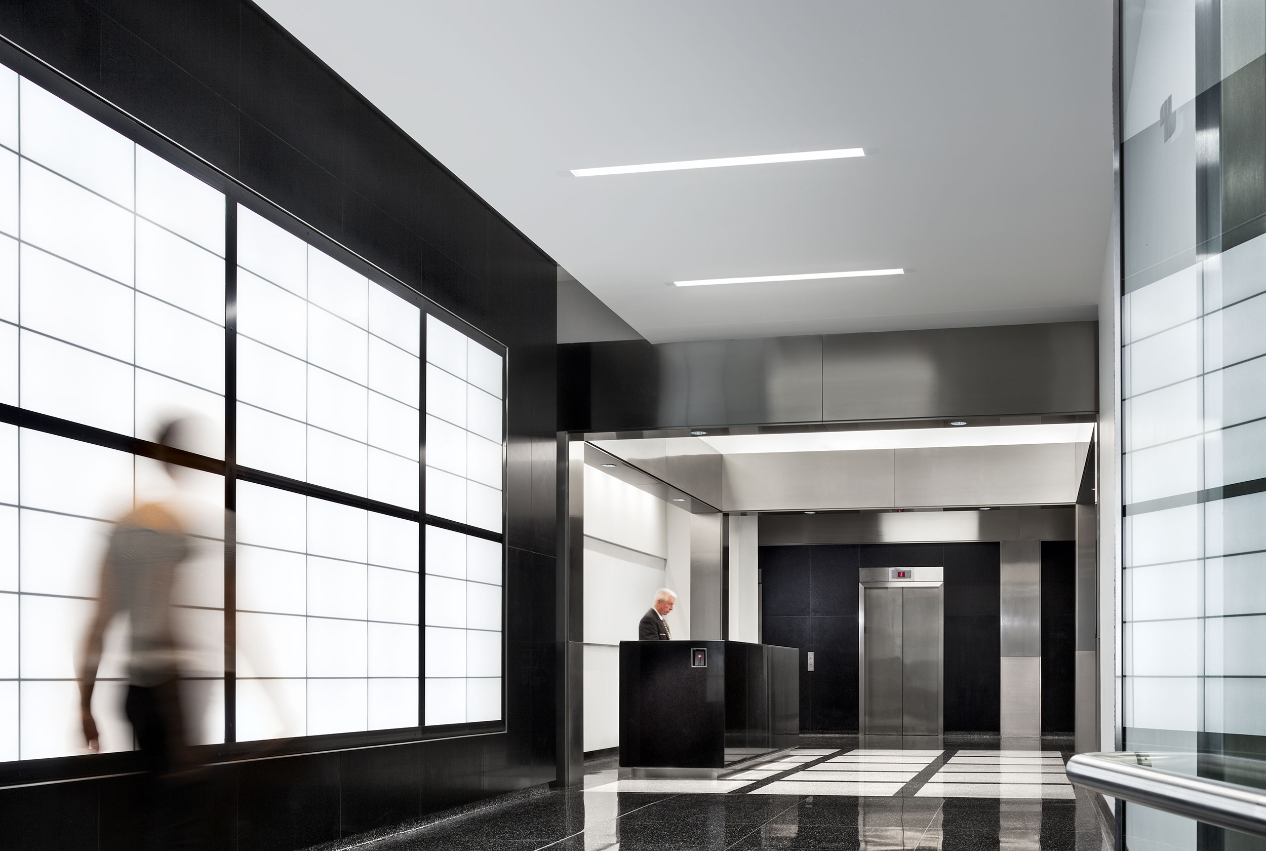 Minimal Lobby Design, Hudson Ave, New York City, Architecture