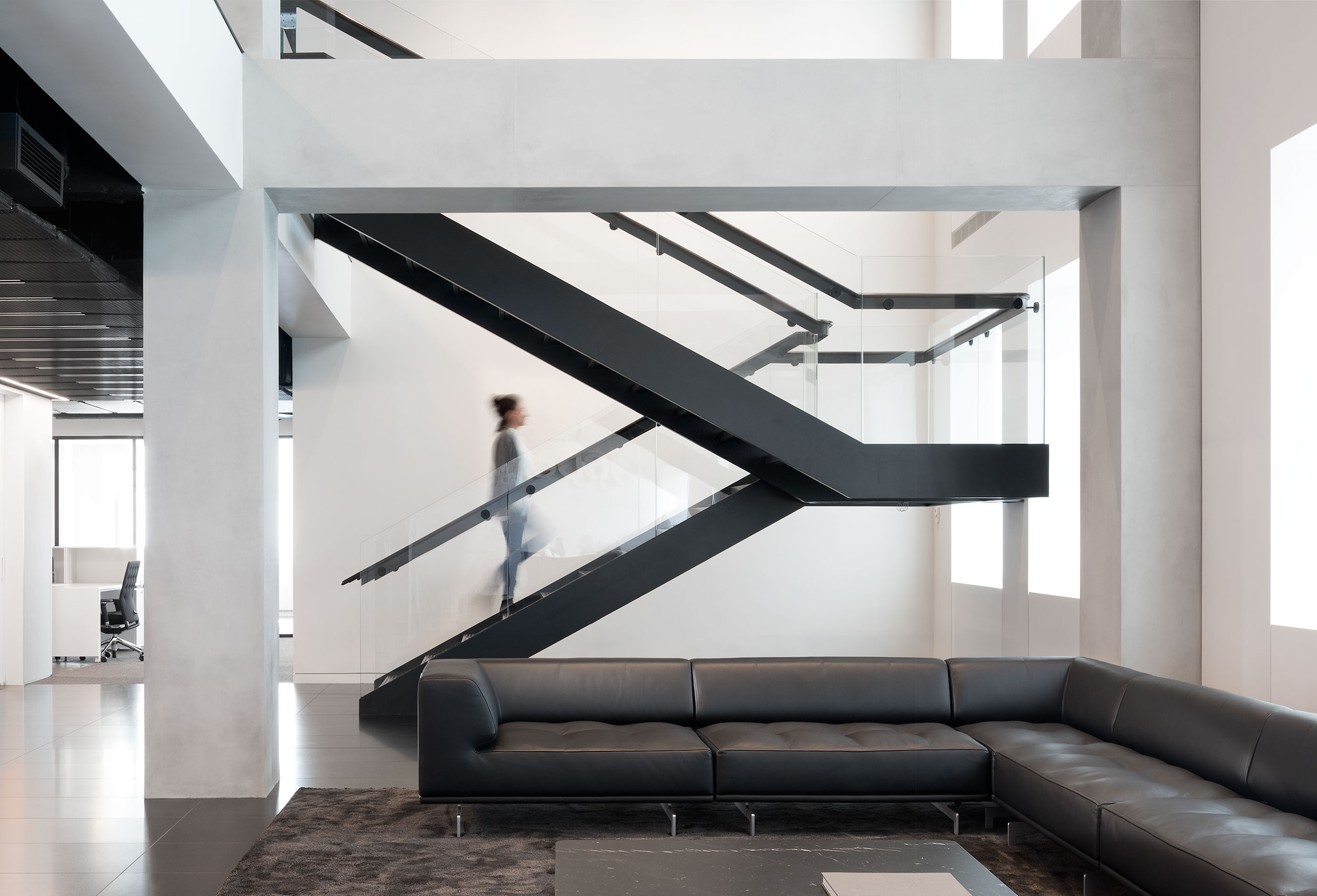 JCDecaux Lobby Staircase, Interior Design, Corporate Interior NYC