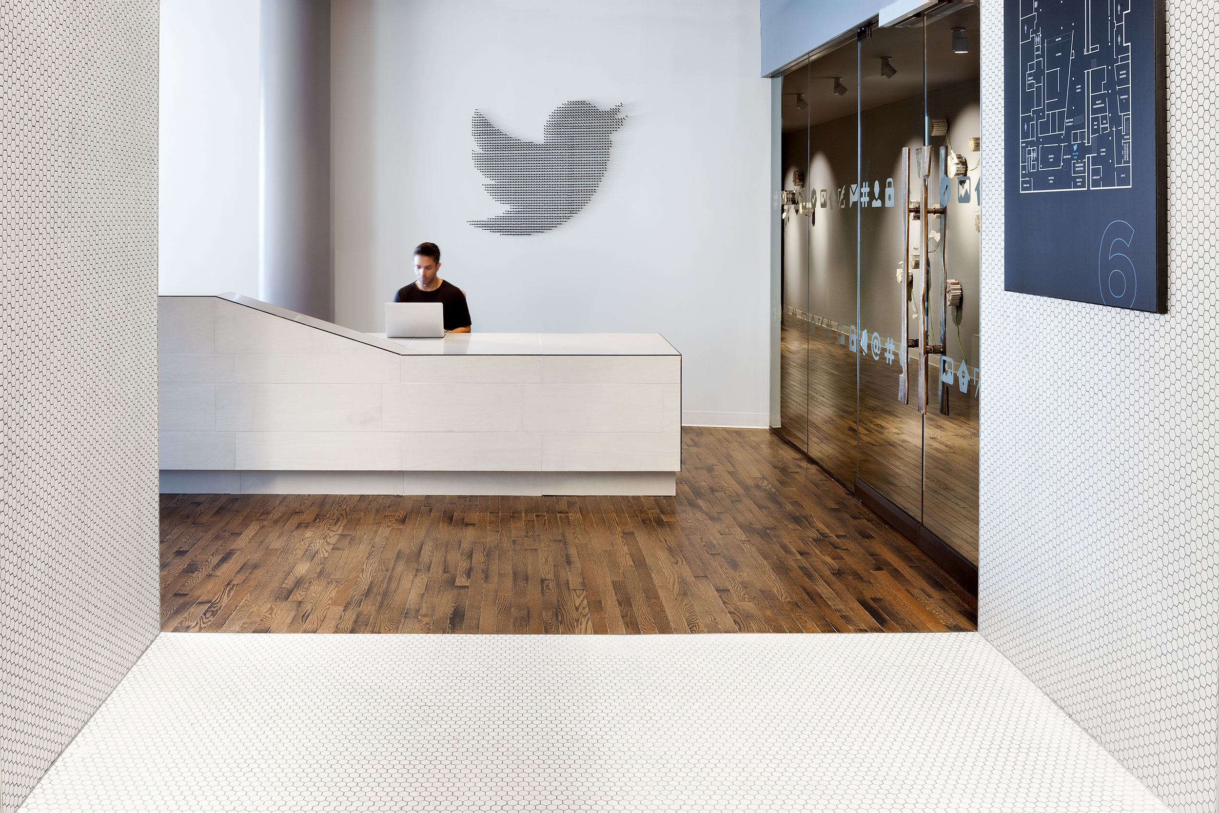 Twitter Reception, New York City, Modern Commercial Interior