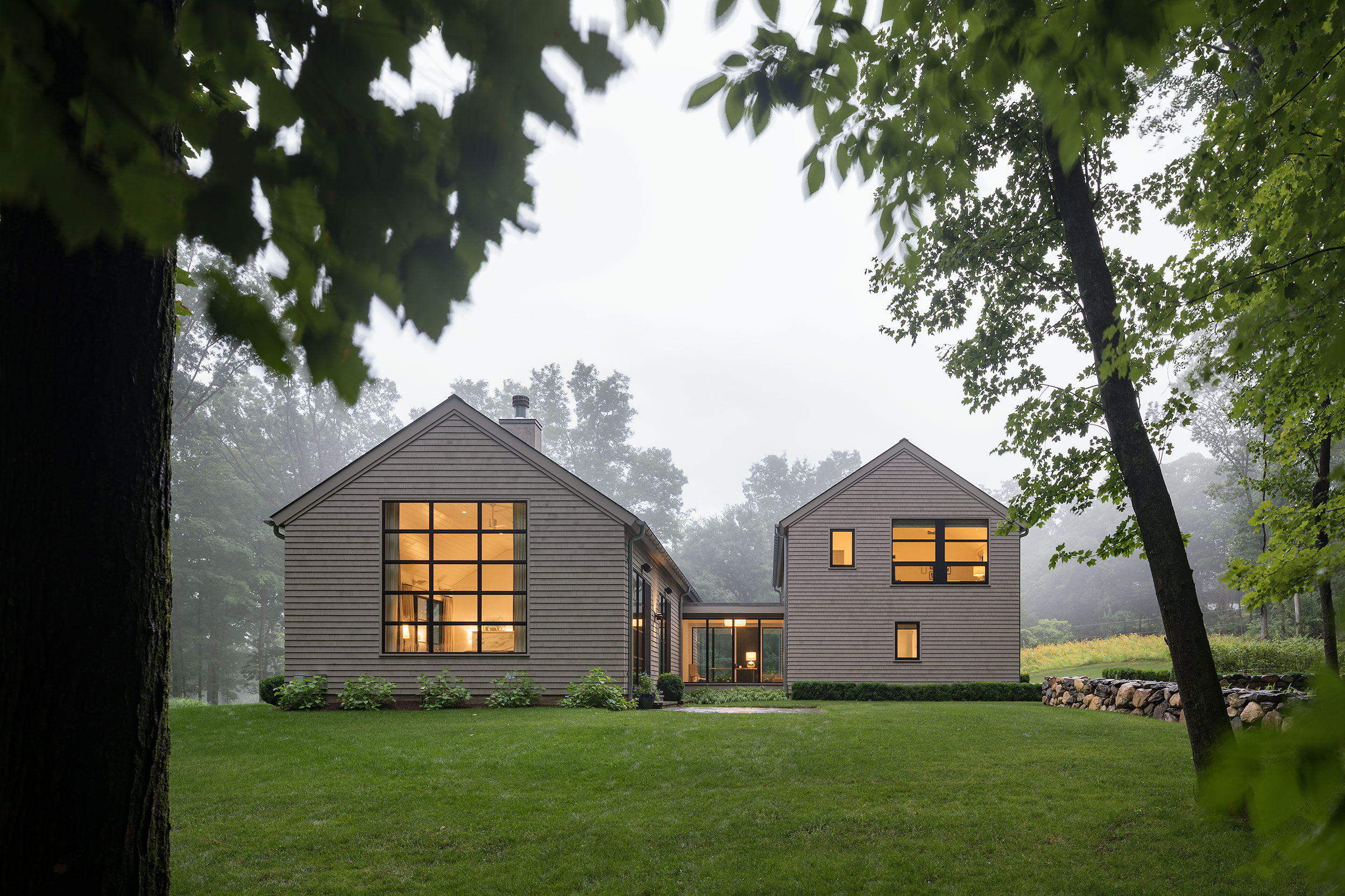 Foggy Photograph, Modern Architectural Design